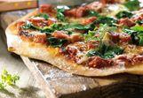 Pizza verde met milde geitenkaas