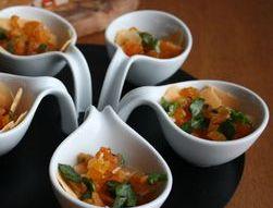 Salsa d'abricots �  la coriandre