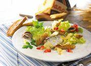 Dutch sardine salad with croutons